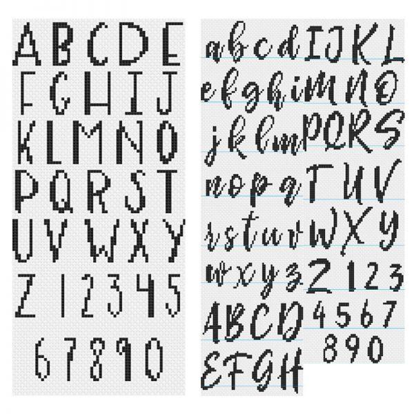 Adulting 101 Alphabet cross stitch pattern set