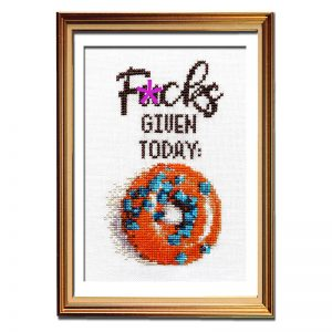 F*cks Given Today cross stitch pattern