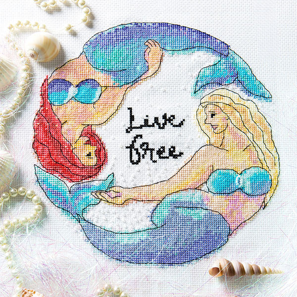 Live Free cross stitch pattern