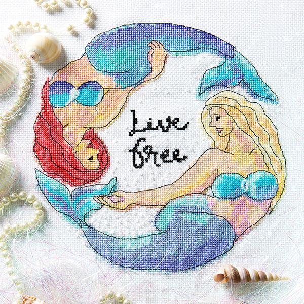 Live Free cross stitch pattern