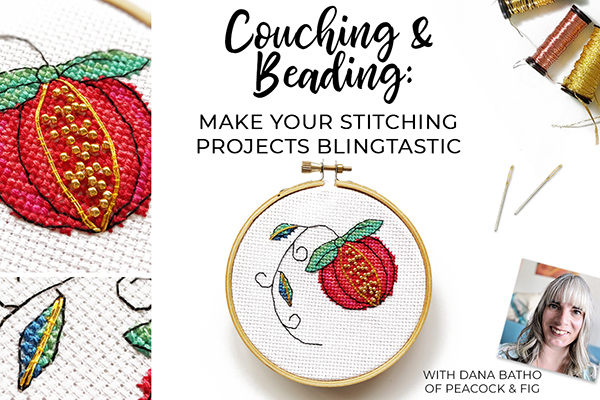 Couching beading cross stitch class