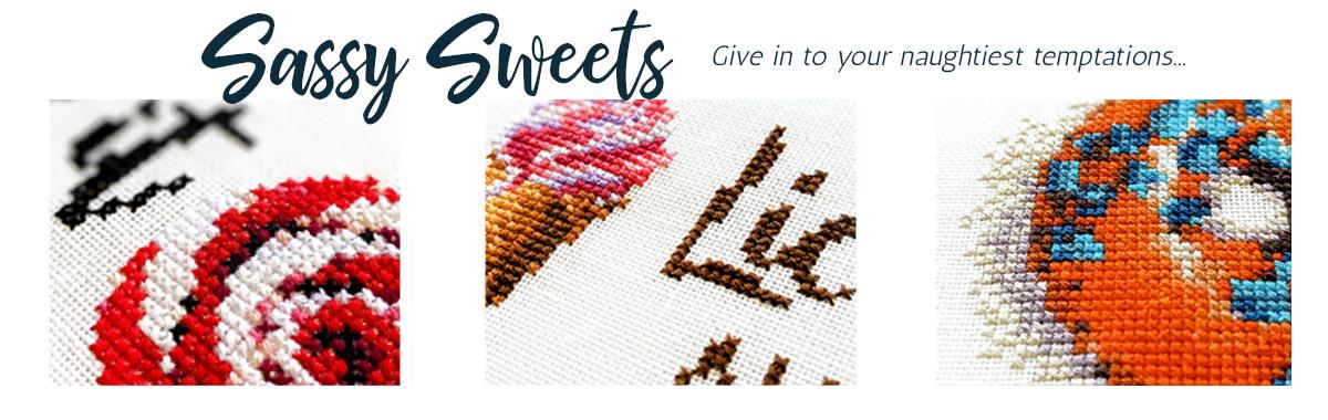 Sassy Sweets cross stitch pattern set