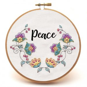 Awa an Bile cross stitch pattern custom sample