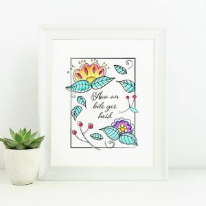 Awa an bile printable art 8x10 framed