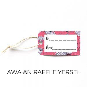 Awa an raffle gift tag