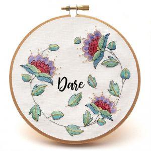 Bassa cross stitch pattern custom sample