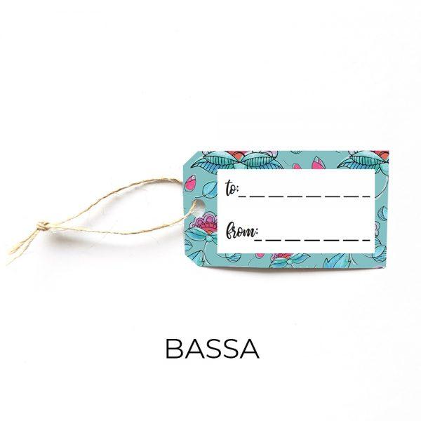 Bassa gift tag