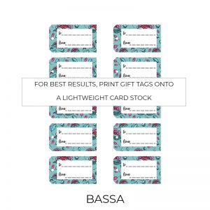 Bassa gift tags sheet