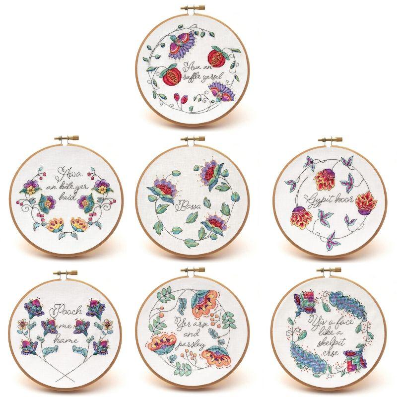 Cheeky Wee Lass cross stitch pattern set