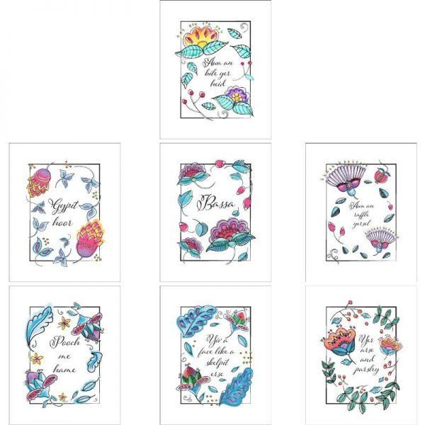 Cheeky Wee Lass printable art set