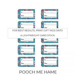 Pooch Me Hame gift tags sheet