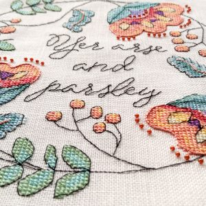 Yer Arse and Parsley cross stitch pattern