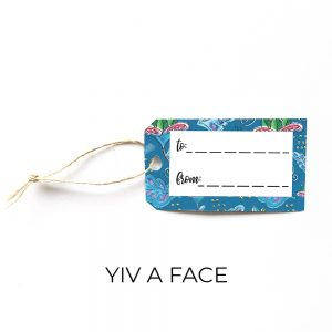 Yiv a face gift tag