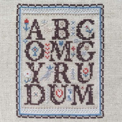 ABC OMG cross stitch pattern