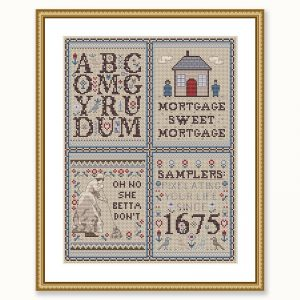 Get Sampled cross stitch pattern set