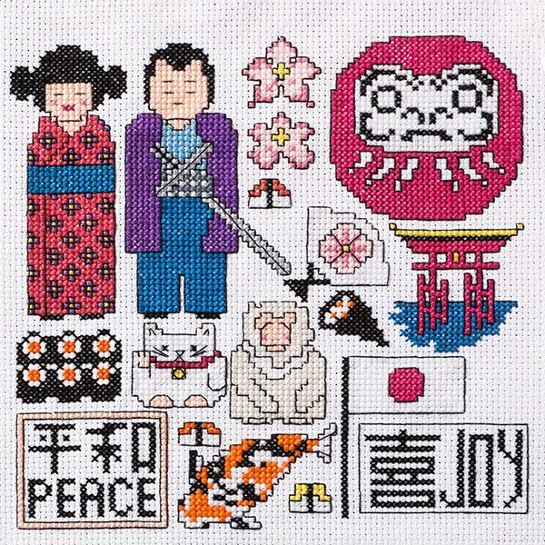 Memories of Japan cross stitch pattern