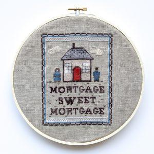 Mortgage Sweet Mortgage cross stitch pattern