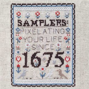 Samplers Since 1675 cross stitch pattern