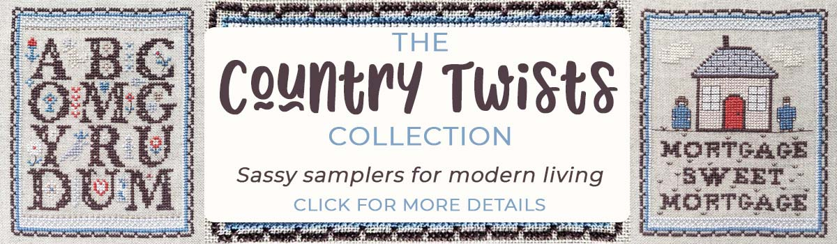 Country Twists cross stitch pattern collection