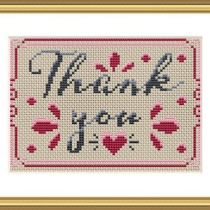 Thank You cross stitch pattern