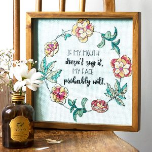No Words Needed cross stitch pattern