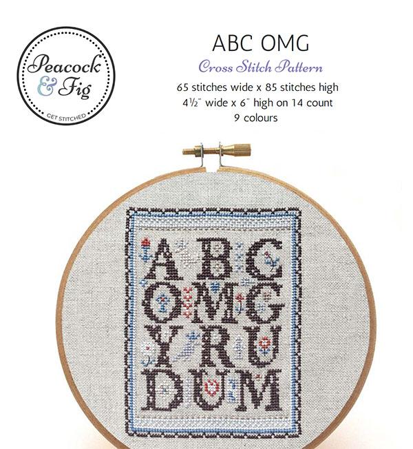 ABC OMG cross stitch pattern cover screenshot