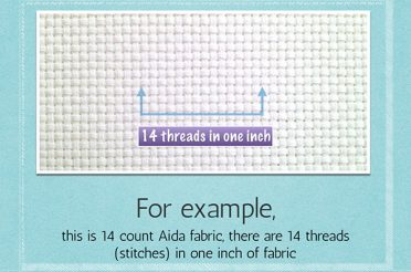 Fabric size calculation: how much fabric you need for cross stitch
