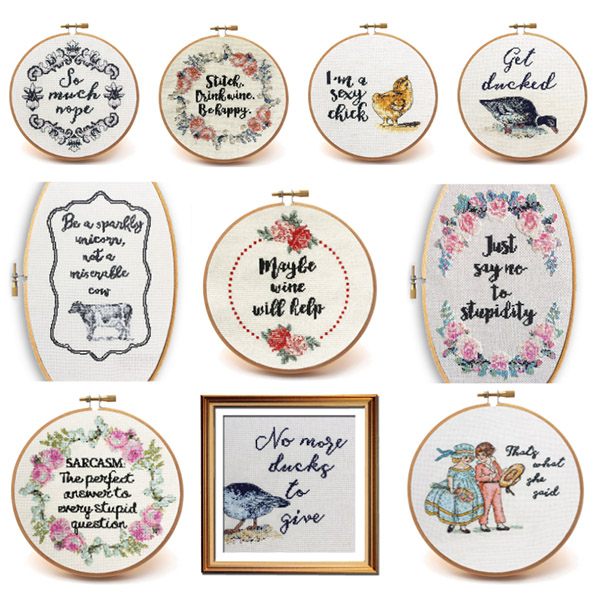 Vintage Sass collection cross stitch pattern set