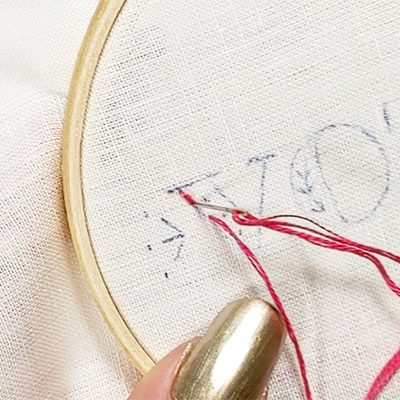 Vote free hand embroidery pattern