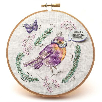 Brave Sir Robin cross stitch pattern