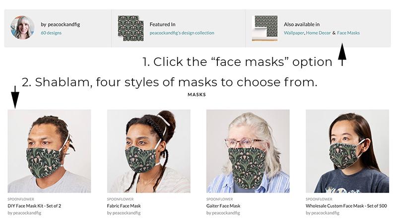 DIY face masks Spoonflower option