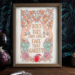 Face That Cares cross stitch pattern