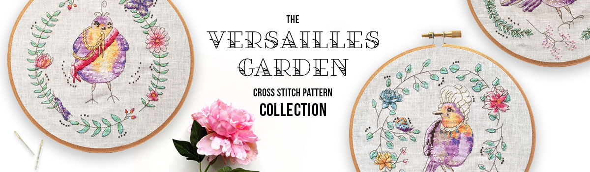 Versailles Garden cross stitch pattern collection
