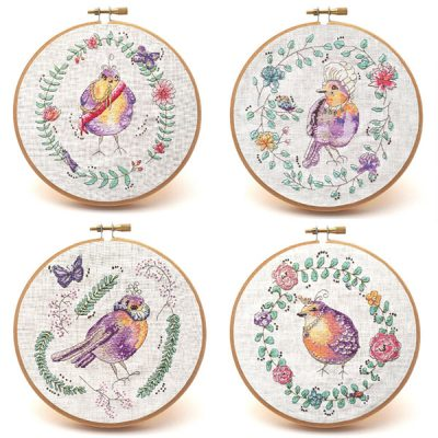 Versailles Garden cross stitch pattern set