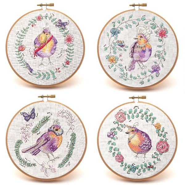 Versailles Garden cross stitch pattern set