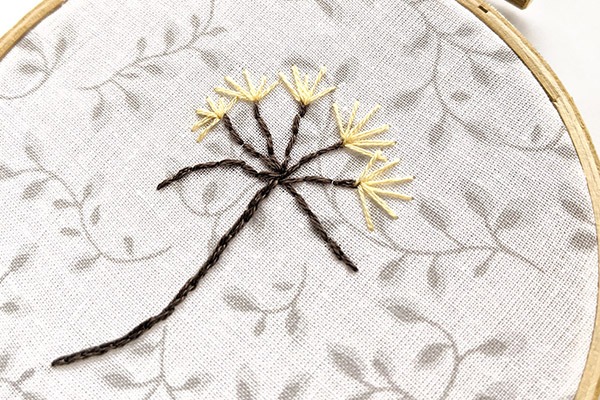 Create your own dandelion hand embroidery project
