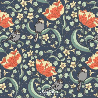 Chickadees-Tulips-surface-pattern-design