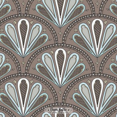 Gothic-Fan-Brown-surface-pattern-design