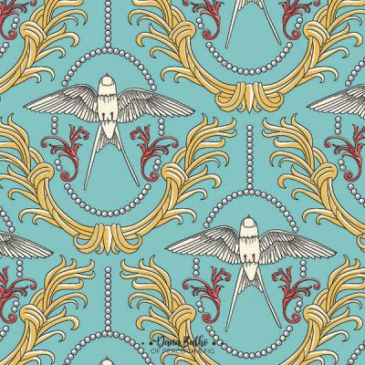 Rococo-Swallows-surface-pattern-design