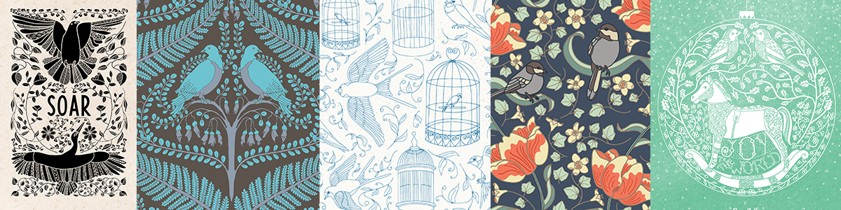 Surface pattern design illustration portfolio