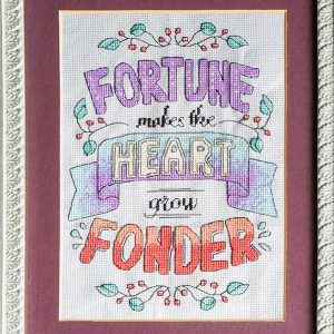 Heart Grows Fonder Cross Stitch Pattern