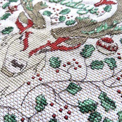 Happy Holidays, Deer Cross Stitch Pattern