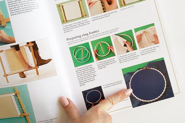 RSN Embroidery book ring hoop