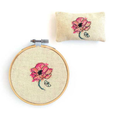 Fleur Papillon pincushion shop cute cross stitch pattern