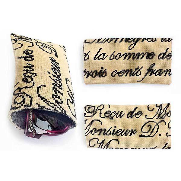 French cross stitch glasses case case shop cross stitch pattern