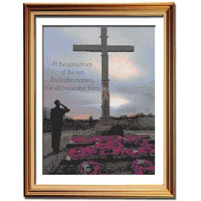 For the Fallen patriotic cross stitch pattern thumbnail