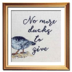 No More Ducks cross stitch pattern funny needlepoint