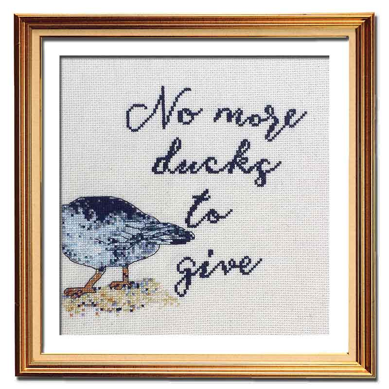 No More Ducks cross stitch pattern funny needlepoint