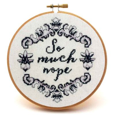 So Much Nope vintage cross stitch pattern