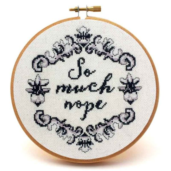 So Much Nope vintage cross stitch pattern